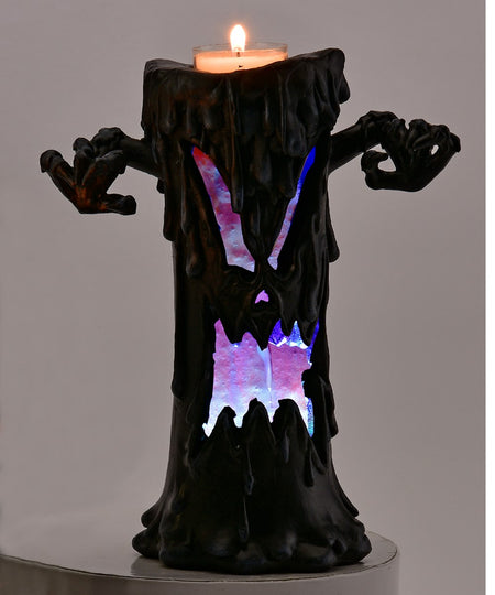 Enchanted Spooky LED Tree Candle Holder