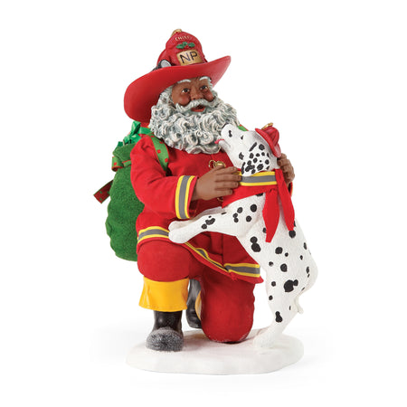 Chief Firefighter African American Santa