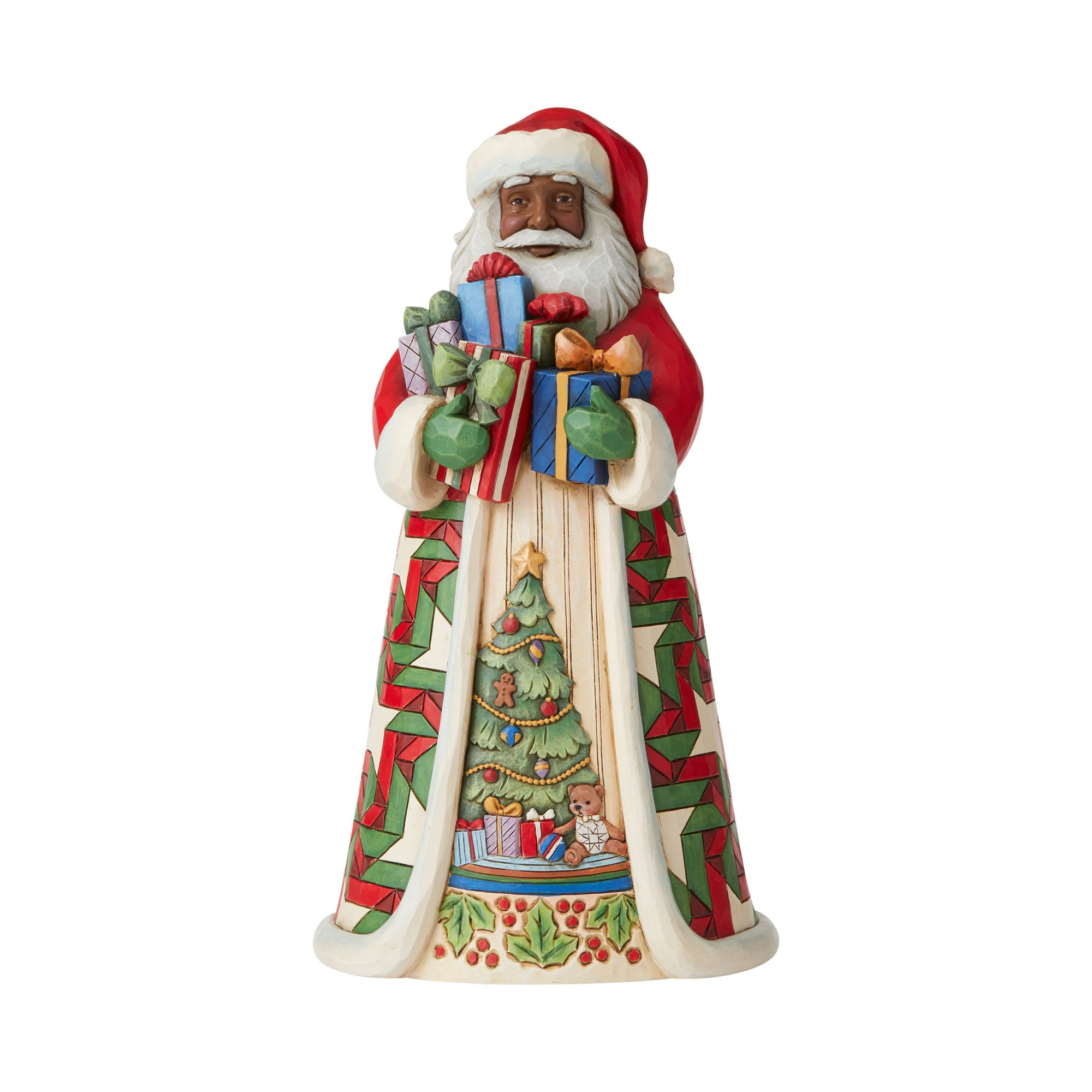 African American Traditional Santa Full of Gifts
