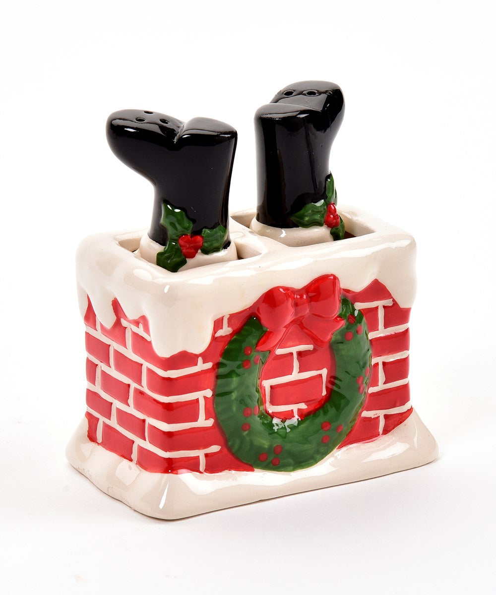Chimney Santa Salt & Pepper Set