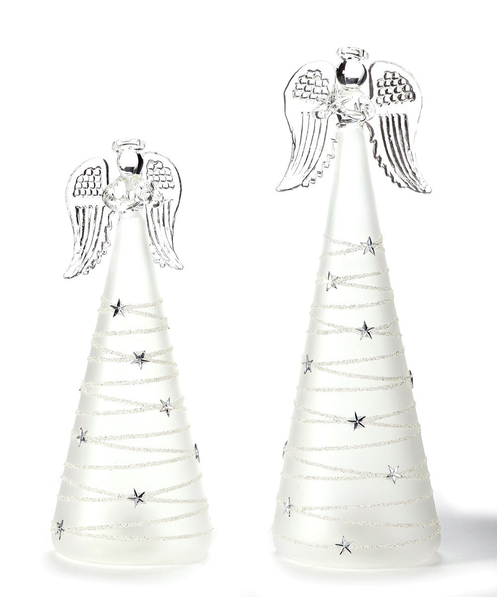 Graceful Glass Angel Décor, Set of 2