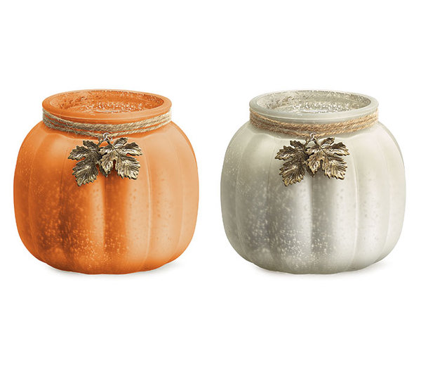 Metallic Pumpkin Vase