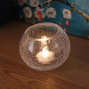 Translucent Crackle Glass Candle Holder