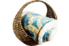 Abstract Indigo Sherpa Throw Blanket