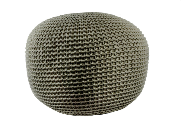 Homey Knitted Pouf Ottoman