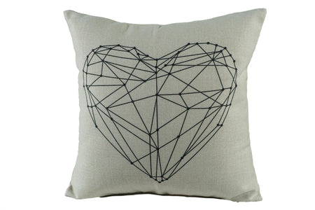 3D Heart Throw Pillow