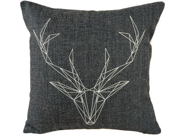 Denim Buck Throw Pillow