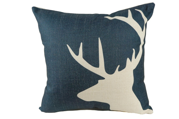 Indigo Shadow Throw Pillow
