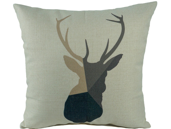 Rustic Buck Throw Pillow