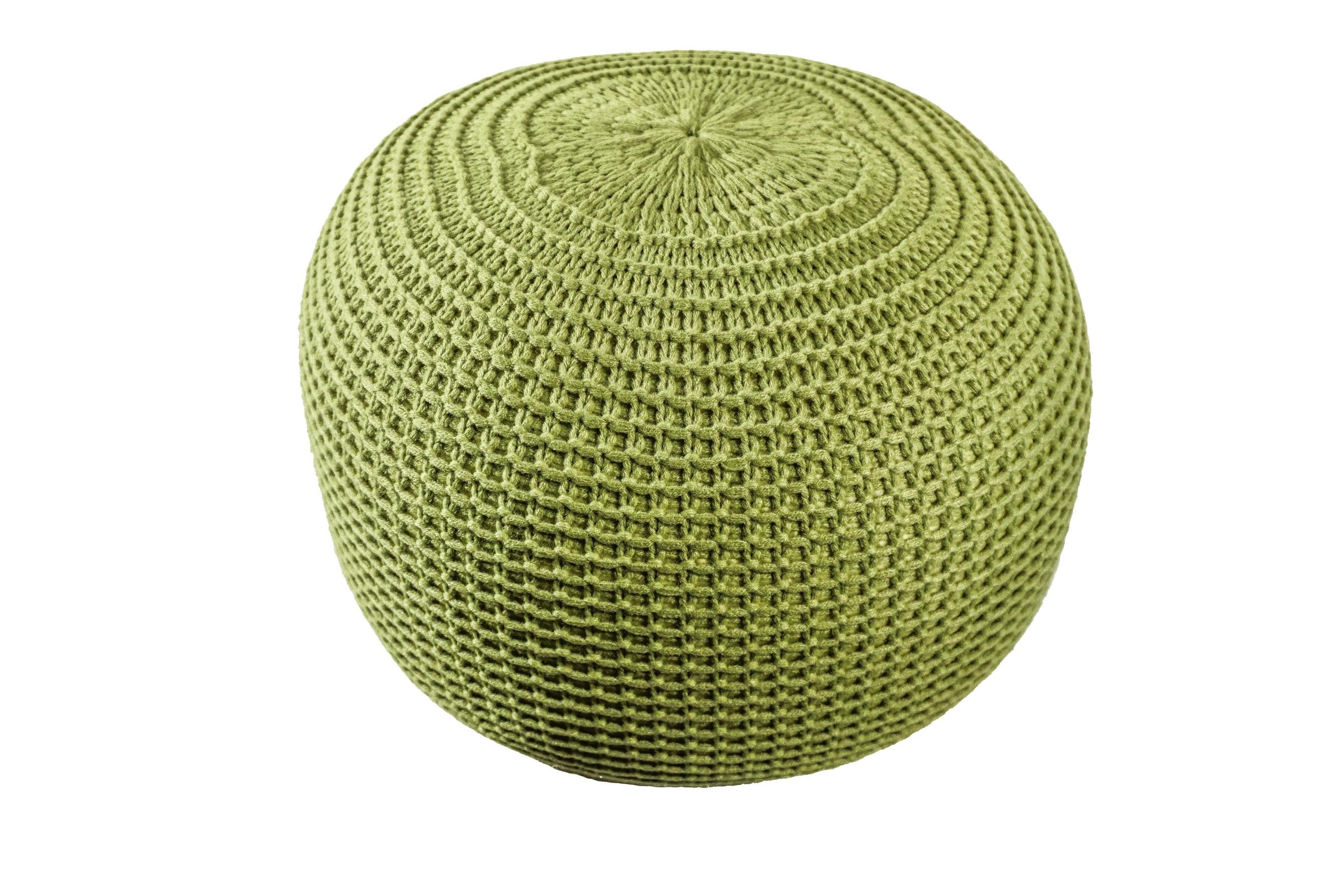 Admirable Homey Knitted Pouf Ottoman Lamtechconsult Wood Chair Design Ideas Lamtechconsultcom