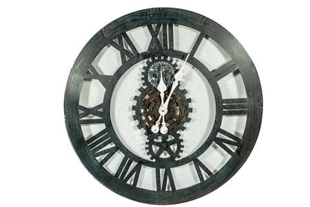 Distressed Iron Wall Clock