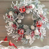 Jingle Flocked Wreath