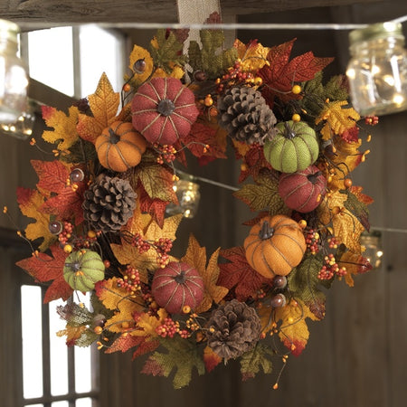 Textures of Harvest Wreath