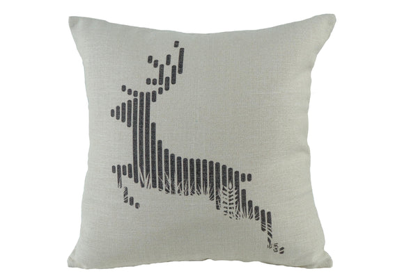 Deer Run Throw Pillow