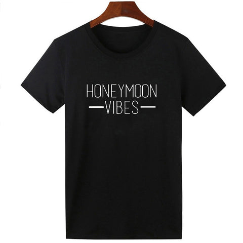 "SHORE PLANET Unisex ""Honeymoon Vibes"" Tee 3XL - Shore Planet"