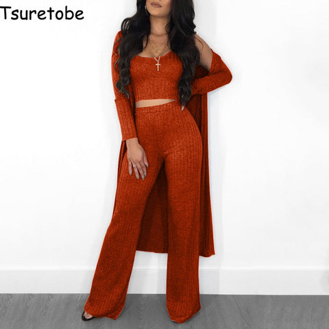 Chicago Cardigan Wide Leg Pantsuit - Shore Planet