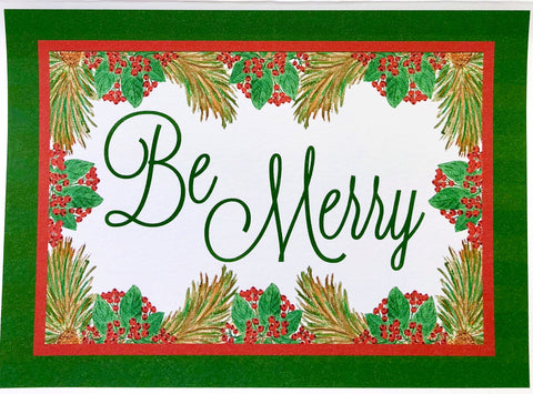 Holiday Cards - Red Berries - Be Merry