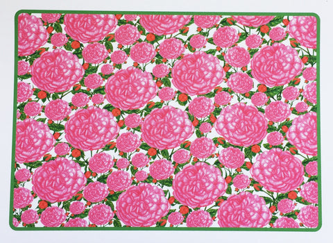 Note Cards - Pink Roses - Full Page