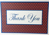 Note Cards - Blue Border Thank You