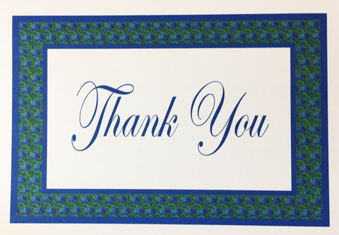 Rosemary Border Thank You Card
