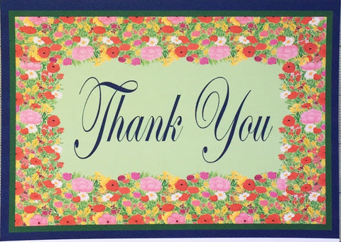 Watercolor Bouquet Thank You Notes