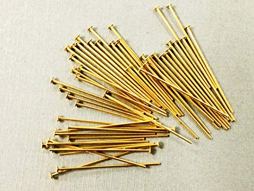 14K Gold Filled Headpin 2 Inch 25 Choose Package Size 26 Gauge