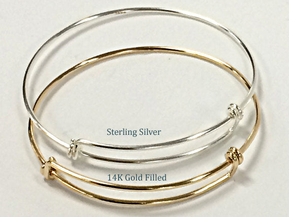 custom a made adjustable bracelets on bangles silver charms tiny hand bangle everlastingimpressions sterling bracelet personalized buy by