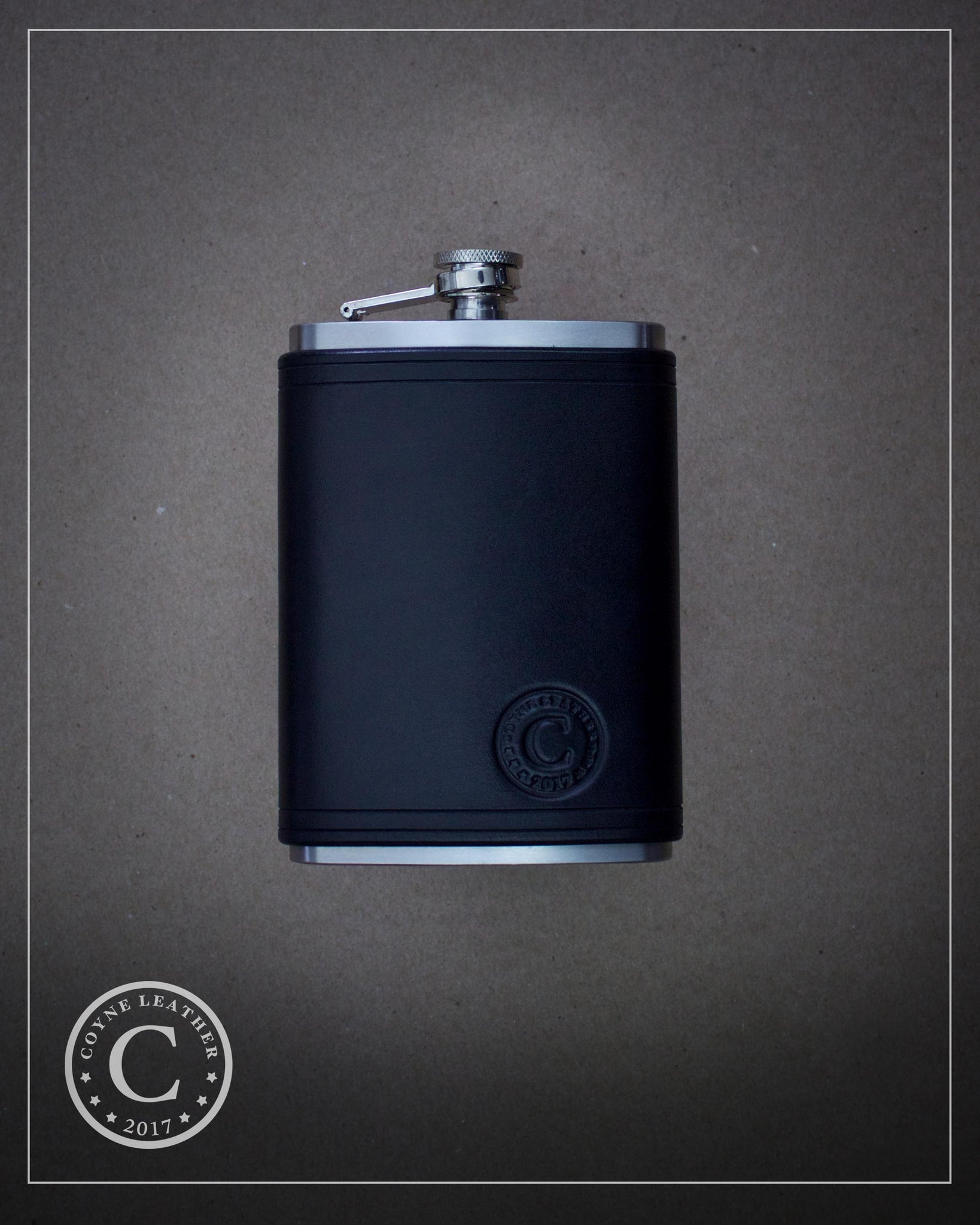 Custom Order: Leather Covered Flask