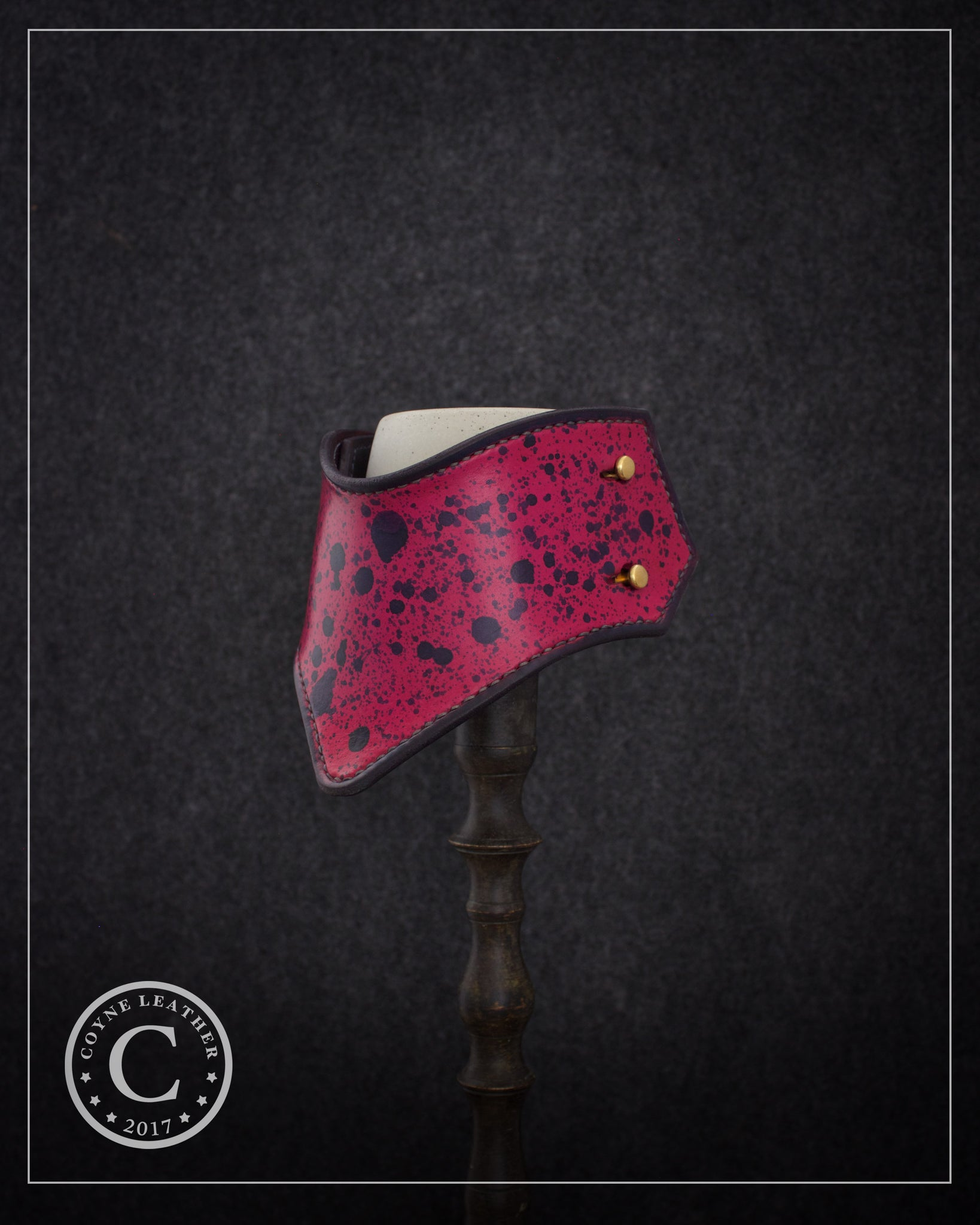 Customized Pink Splatter Fox Gorget Collar