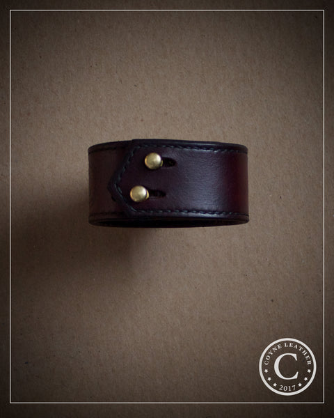 Simple Cuff in Oxblood Ombré