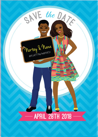 African American Save the Date