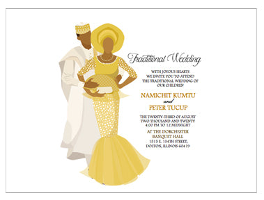 African Traditional Wedding Invitations