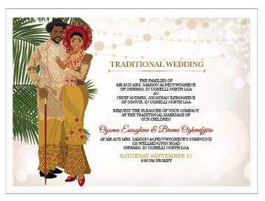 African Traditional Wedding Invitation