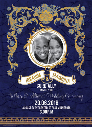 SOTEY African Wedding Invitation