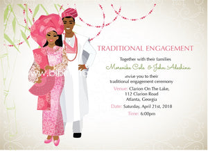 Adufe mi Yoruba Nigerian Traditional Wedding Invitation