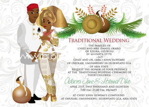 Achal'ugo Nigerian Igbo Traditional Wedding Invitation