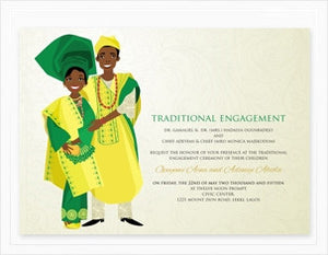 Oni Temi Yoruba Nigerian Traditional Wedding Invitation