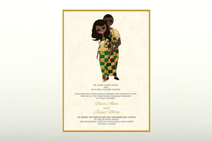 Me dor wo Ghanaian Traditional Wedding Invitation