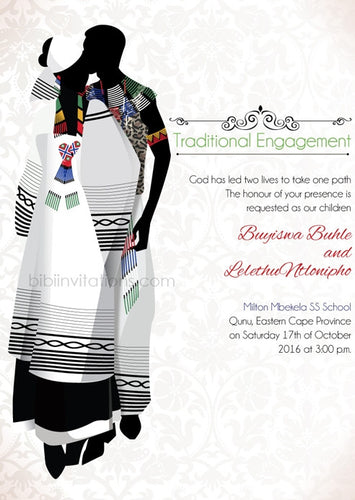 Bathandwa Xhosa Tradtional Wedding Invitation