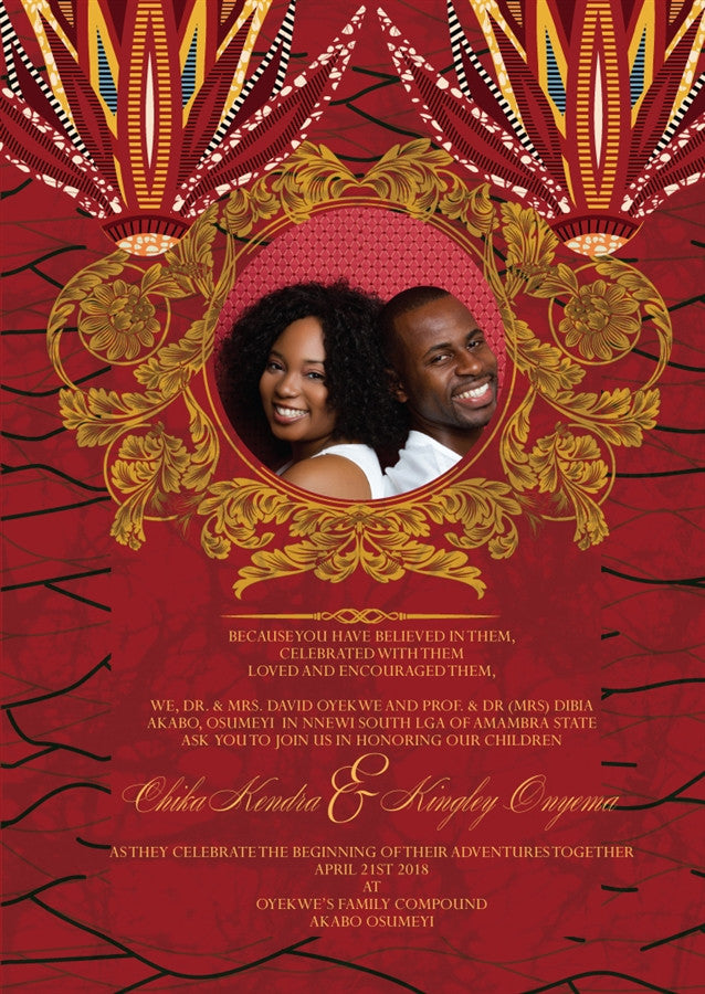 JUBILEE African Wedding Invitation