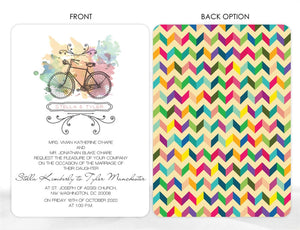 VINTAGE BICYCLE WEDDING INVITATION