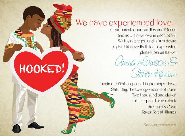 Dadie Anoma Ghanaian Traditional Wedding Invitation