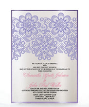 Load image into Gallery viewer, LACE WEDDING INVITATION