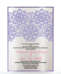 LACE WEDDING INVITATION