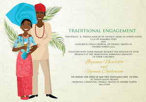Ada Owerri Igbo Nigerian Traditional Wedding Invitation