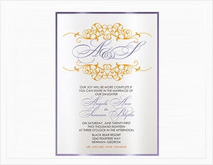 HAPPY SWIRL WEDDING INVITATION