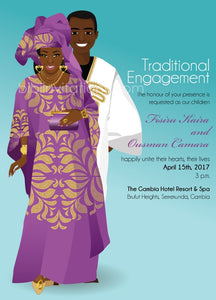 Sopp Na Laa  Gambian Traditional Wedding Invitation