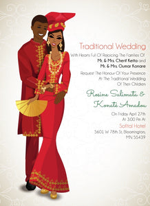 Kele Kele Love Gambian Traditional Wedding Invitation