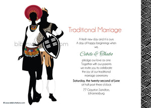 Talana Zulu Umembeso Tradtional Wedding Invitation