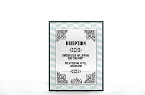 VINTAGE PLAYING CARD WEDDING INVITATION